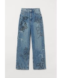 H&M 90s Baggy High Jeans - Blue
