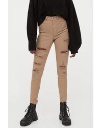 H&M - Super Skinny High Jeans - Lyst