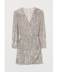 H&M Sequined Playsuit - White