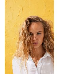 H&M Sleeveless Cotton Shirt - White