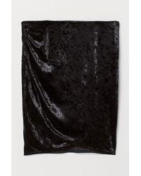 H&M Rock aus Crashsamt - Schwarz