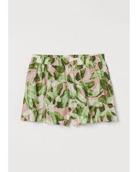 H&M Short en coton à motif - Rose