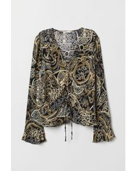 H&M Drawstring Blouse - Black