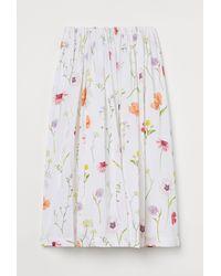 H&M Flared Skirt - White