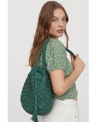 H&M Straw Bucket Bag - Green