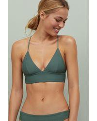 H&M Padded Triangle Bikini Top - Green