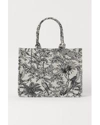 H&M Handtasche mit Jacquardmuster - Weiß