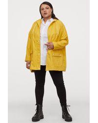H&M H & M+ Hooded Rain Jacket - Yellow