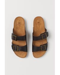 H&M Leather Sandals - Brown