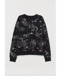 H&M Printed Sweatshirt - Black
