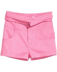H&M Belted Shorts - Pink