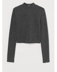 H&M - Veloursshirt - Lyst