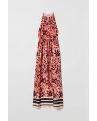 H&M Satin Maxi Dress - Pink