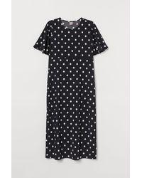 H&M H & M+ Butterfly-sleeved Dress - Black