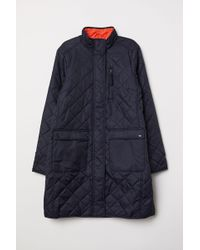 H&M Quilted Coat - Blue