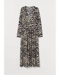 H&M Robe longue à encolure en V - Noir