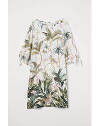 H&M - Kleid mit Bindeärmeln - Lyst