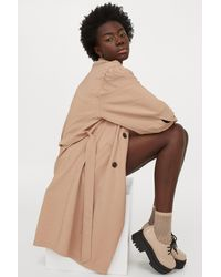 H&M Double-breasted Trenchcoat - Natural