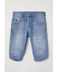 H&M - Jeansshorts Straight Fit - Lyst