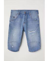 H&M Short droit en jean - Bleu