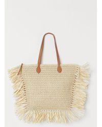 H&M Paper Straw Shopper - Natural