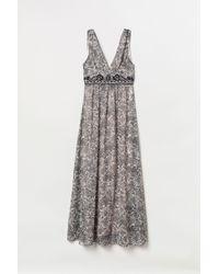 H&M Beaded Maxi Dress - Natural