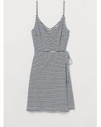 H&M Modal-blend Wrap Dress - White
