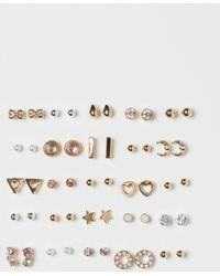 H&M 25 Pairs Earrings - Metallic
