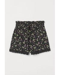 H&M - Lace-trimmed Shorts - Lyst