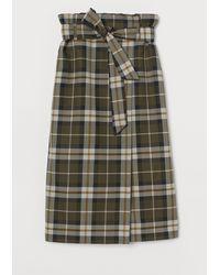 H&M Tie-belt Wrapover Skirt - Green