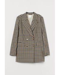 H&M Patterned Jacket - Natural