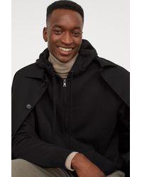 H&M Hooded Jacket Regular Fit - Black