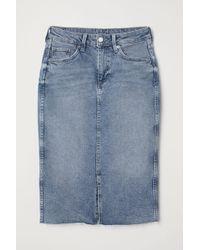H&M Jupe en jean de longueur genou - Bleu