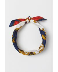 H&M - Patterned Scarf - Lyst