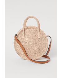 H&M Round Straw Bag - Natural