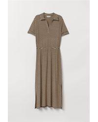 H&M - Robe en maille côtelée - Lyst
