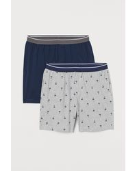 H&M Set Van 2 Pyjamashorts - Grijs