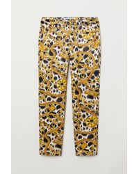 H&M - Patterned Trousers - Lyst