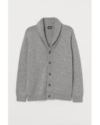 H&M Cardigan mit Schalkragen - Grau