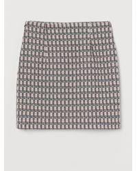 H&M Jacquard-knit Skirt - Pink