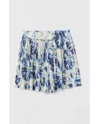 H&M Short plissé - Bleu