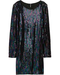 H&M Sequined Velour Dress - Black