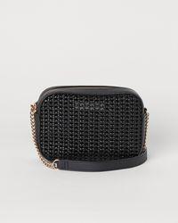 H&M Geflochtene Handtasche - Schwarz
