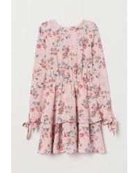 H&M Tiered Dress - Pink