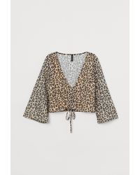 H&M - Sequin-embroidered Blouse - Lyst