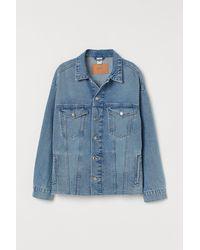 H&M Oversized Denim Jacket - Blue