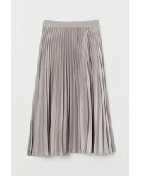 H&M Pleated Skirt - Brown
