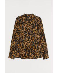 H&M Viscose Shirt Slim Fit - Natural
