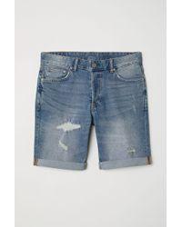 H&M Jeansshorts Slim - Blau