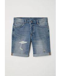 H&M Short en jean Slim - Bleu